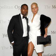 Amber Rose i Kanye West (Foto: AFP)