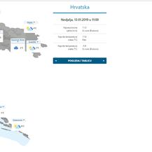 Trenutna prognoza DHMZ-a (Foto: Screenshot)