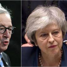 Jean-Claude Juncker, Theresa May (Foto: AFP)