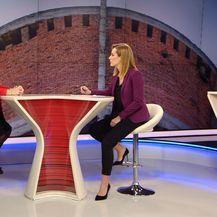 Ivana Brkić Tomljenović razgovara s predsjednicom Glasa Ankom Mrak Taritaš (Foto: Dnevnik.hr) - 1