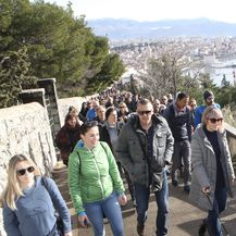 Prosvjedna šetnja Marjanom (Foto: Ivo Cagalj/PIXSELL)