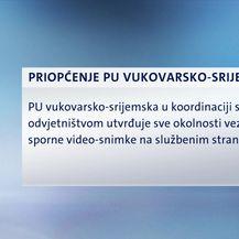 Policija istražuje spornu snimku (Video: Dnevnik Nove TV)