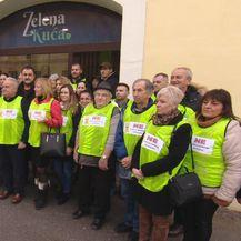 Građani Petrinje protiv odlaganja nuklearnog otpada (Foto: Dnevnik.hr)