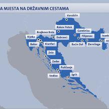 Opasna mjesta na državnim cestama (Foto: Dnevnik.hr)