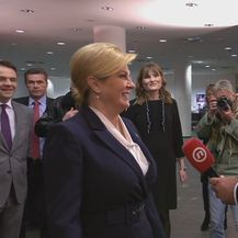 Kolinda Grabar-Kitarović stigla na sučeljavanje na Novoj TV