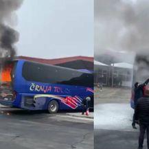 U Vukovaru se zapalio autobus