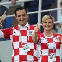Predsjednica Koilinda Grabar-Kitarović na utakmici Hrvatska - Danska (Foto: Igor Kralj/PIXSELL) - 2
