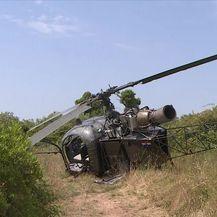Prisilno slijetanje civilnog helikoptera (Video: Dnevnik Nove TV)