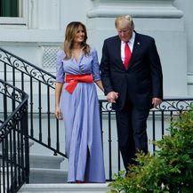 Melania Trump i Donald Trump na pikniku u Bijeloj kući