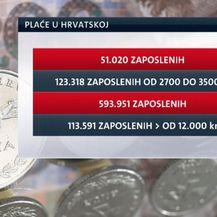 Podaci Državnog zavoda za statistiku o strukturi zaposlenih (FOTO: Vijesti Nove TV u 14 sati)
