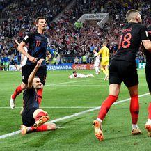 Slavlje Vatrenih nakon Perišićeva gola (Foto: AFP)