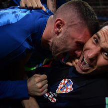Slavlje hrvatskih nogometaša (Foto: AFP)