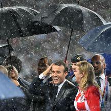 Francuski predsjednik Emmanuel Macron i Kolinda Grabar-Kitarović (Foto: AFP)