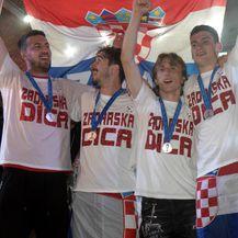 Subašić, Vrsaljko, Modrić i Livaković na dočeku u Zadru