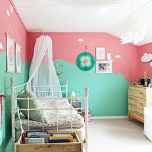 Kombinacija zelene i ružičaste u interijeru izgleda baš divno