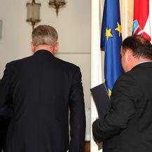 Ivo Sanader podnosi ostavku (Foto: Dalibor Urukalović/Pixsell)