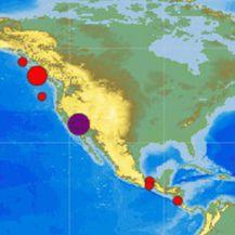 Potres u Kaliforniji (Foto: EMSC)