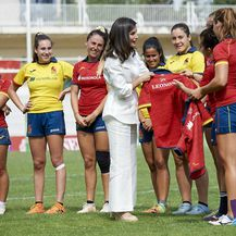 Kraljica na treningu ženske nacionalne ragbijaške momčadi