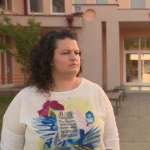 Sanja Vištica razgovara s razrednom učiteljicom (Foto: Dnevnik.hr)
