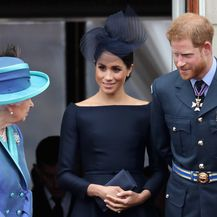 Harry, Meghan i kraljica Elizabeta (Foto: Getty)