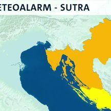 DHMZ za dio Hrvatske najavio narančasti meteoalarm (Video: Dnevnik Nove TV)