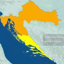 DHMZ za dio Hrvatske najavio narančasti meteoalarm (Foto: Dnevnik.hr)