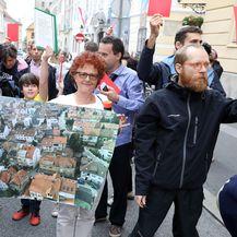 prosvjed Zagrepčana protiv GUP-a (Foto: Patrik Macek/Pixsell) - 3