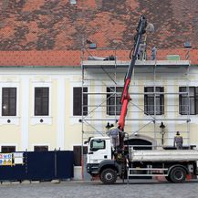 Radovi na Banskim dvorima (Foto: Patrik Macek/PIXSELL)