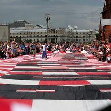 Hrvatska zastava u Moskvi (Photo: Igor Kralj/PIXSELL)