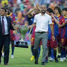 Joan Laporta i Josep Guardiola (Foto: AFP)