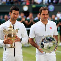 Novak Đoković i Roger Federer (Foto: Press Association/PIXSELL)