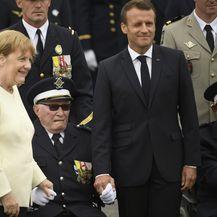 Angela Merkel u društvu francuskog kolege Emmanuela Macrona (Foto: AFP)