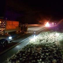 Kod Rijeke izgorio automobil (Video: Čitatelj)