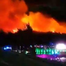 Požar na Zrću (Foto: Twitter/Antonio Simmons)