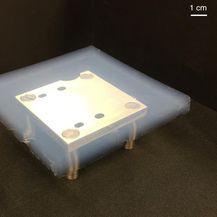 Aerogel od silikue u laboratoriju (Foto: JPL/NASA)