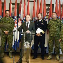Izvanredna konferencija za medije nakon stradavanja vojnika u Afganistanu (Foto: MORH) - 2