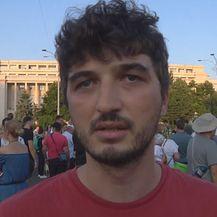 Prosvjednik Andrej (Foto: Dnevnik.hr)