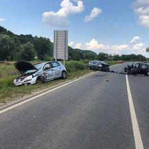 Nesreća na staroj Zagorskoj cesti (Foto: Facebook stranica/Policija zaustavlja-Krapinsko zagorska županija)
