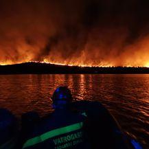 Požar na otoku Lavdara kod Zadra