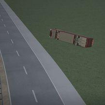 Prikaz prometne nesreće na autocesti - 1