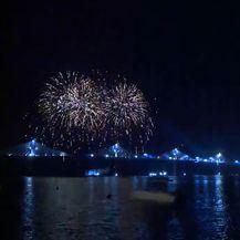 Vatromet iznad Pelješkog mosta
