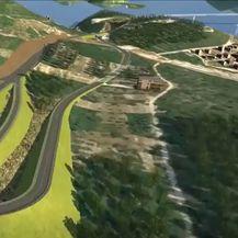 Animacija koja prikazuje kako će izgledati pristupne ceste Pelješkog mosta - 1