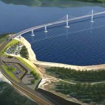Animacija koja prikazuje kako će izgledati pristupne ceste Pelješkog mosta - 2