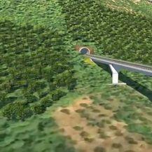 Animacija koja prikazuje kako će izgledati pristupne ceste Pelješkog mosta - 3