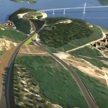 Animacija koja prikazuje kako će izgledati pristupne ceste Pelješkog mosta - 4
