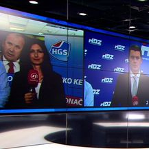 Mario Jurič uživo iz stožera HDZ-a (Video: Specijal Nove TV)