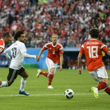 Mohamed Salah protiv Rusije (Foto: AFP)