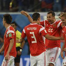 Artem Dzjuba slavi sa suigračima (Foto: AFP)