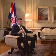 Andrej Plenković i reporter Dnevnika Nove TV Mislav Bago (Foto: Arhiva/Dnevnik.hr)
