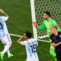 Messi pred golom Hrvatske (Foto: AFP)